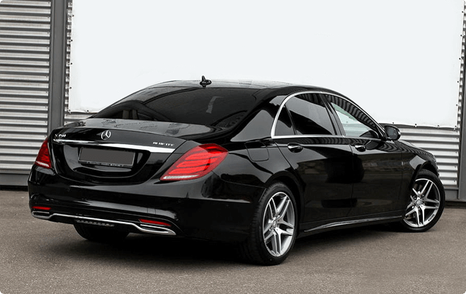 Budapest Luxury Sedans - Mercedes Benz S Class W222 Long 500 - Back View
